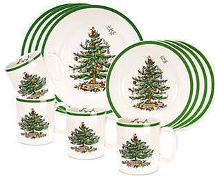 Spode Christmas Tree 12pc Dinnerware Set