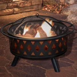 Izzo Crossweave Steel Wood Burning Fire Pit