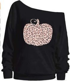 Women's Off-the-Shoulder Pumpkin Pullover