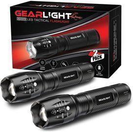 FMU LED Tactical Flashlight 2-Pack