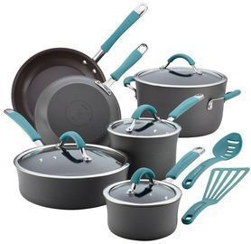Rachael Ray 12pc Hard-Anodized Aluminum Non Stick Cookware Set