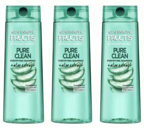 3X Garnier Fructis Pure Clean Shampoo, 12.5 Fl Oz