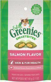 Greenies Feline SMARTBITES Healthy Skin and Fur, Chicken and Salmon