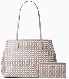 Kate Spade Link Large Tote + Matching Wallet