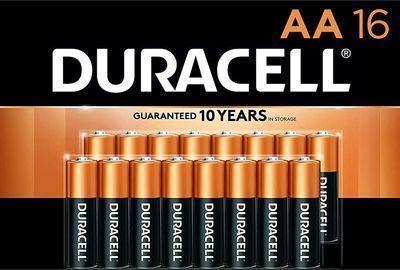 16x Duracell CopperTop AA Alkaline Batteries