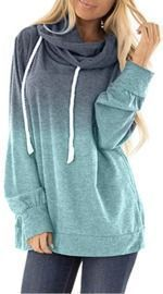 Fall Clothes Fashion Casual Hooded Tie Dyes Print Sweatshirt