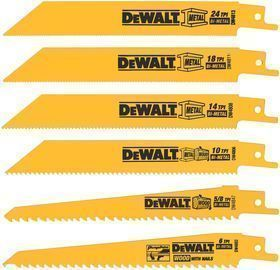DeWalt Reciprocating Saw Blade 6pc Set