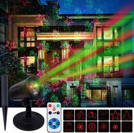 Outdoor Christmas Projector Lights with Wireless Remote Control