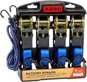 Ratchet Tie Down Straps - 4pk