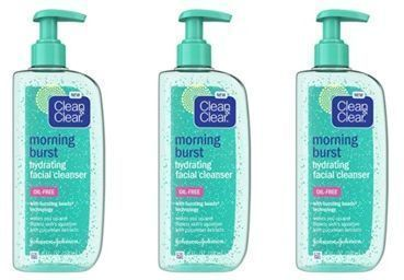 Clean & Clear Morning Burst Oil-Free Hydrating Facial Cleanser x 3