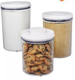 3-Piece OXO Round Pop Canister Food Storage Container Set