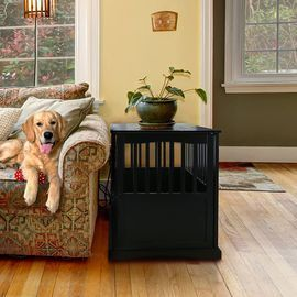 Casual Home Wooden Pet Crate / End Table