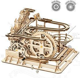 ROKR Mechanical 3D Wooden Waterwheel Coaster Model Kit