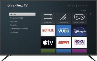 STARTS 7PM: onn. 70 4K UHD LED Roku Smart TV