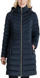Michael Michael Kors Hooded Stretch Packable Water-Resistant Down Puffer Coat
