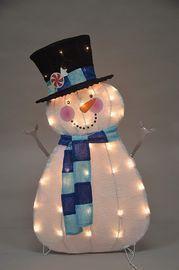 32 Pre-Lit Candy Cane Lane Snowman Christmas Yard Decoration