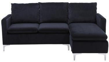 Velvet L-Shaped Reversible Sectional Sofa by Boyel Living