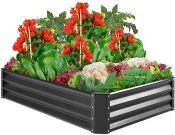 6'x3'x1' Outdoor Metal Raised Garden Bed