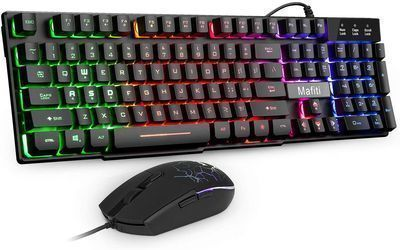 Mafiti Wired Gaming Keyboard and Mouse Combo