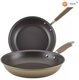 2-Piece 10.25 and 12.75 Anolon Advanced Home Hard-Anodized Nonstick Skillet Set