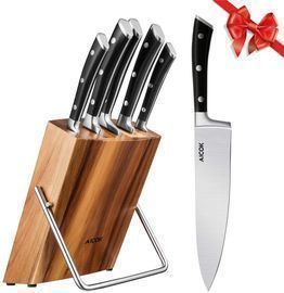 Professional 6-Piece Knife Set with Wooden Block
