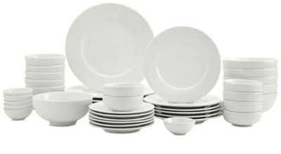42-Piece Tabletops Unlimited Whiteware Dinnerware Set