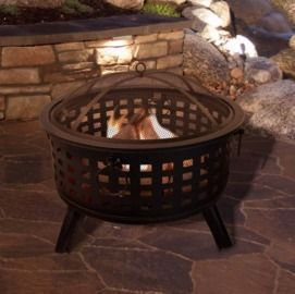 Janesville Steel Wood Burning Fire Pit