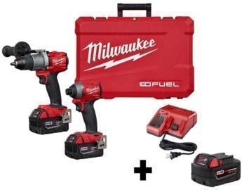 M18 FUEL 18-Volt Lithium-Ion Brushless Cordless Hammer Drill & Impact Driver Combo Kit