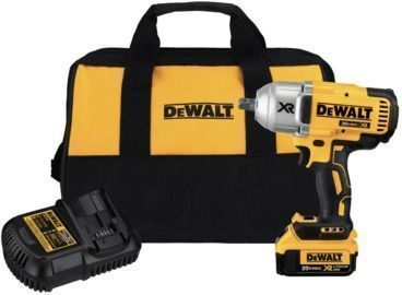 DEWALT 20-Volt MAX XR Cordless Brushless High Torque 1/2 in. Impact Wrench w/ Bag