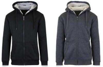 2 Pack of Sherpa Lined Fleece Heavy Weight Hoodies
