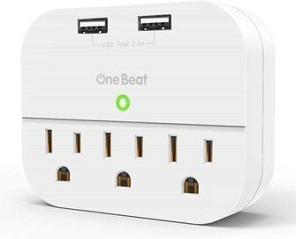 Wall Charger with 3 Outlets 2 USB Ports