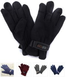 3 Pack of Men's Polar Fleece Gloves
