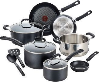 T-fal Professional Nonstick Cookware Dishwasher Safe Pots and Pans 12-Pc Set