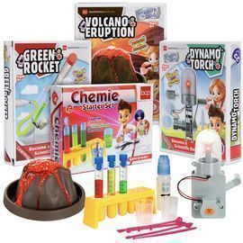 4-in-1 Science Project Kit, STEM & STEAM DIY Lab Experiments
