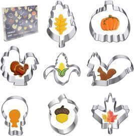 8pc Fall Thanksgiving Large Cookie Cutters Set