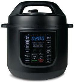 9-in-1 6 Qt. Matte Black Electric Multi-Cooker with Recipe Book