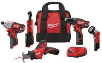 M12 12-Volt Lithium-Ion Cordless 5 Tool Combo Kit