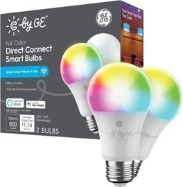 C by GE Direct Connect A19 Color Changing LED Light Bulbs, 2pk