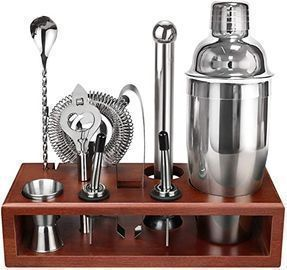 Cocktail Shaker Bartender Kit with Stand