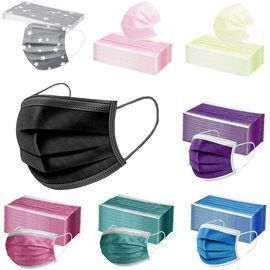 Adults 10pcs Disposable Solid Color Face Macks