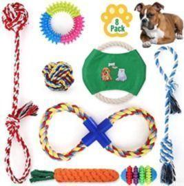 Set of 8 Dog Toys