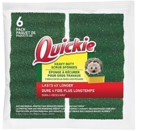 Quickie Long Lasting Heavy Duty Scrubber Sponge - 6pk