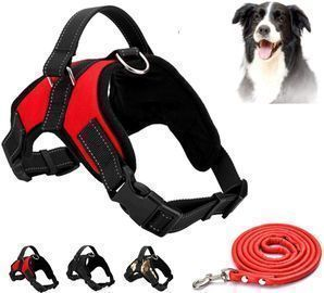No Pull Pet Harness w/ 3M Reflectivity + Dog Rope