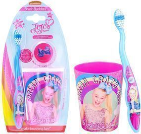 JoJo Pink Toothbrush Set, Multi