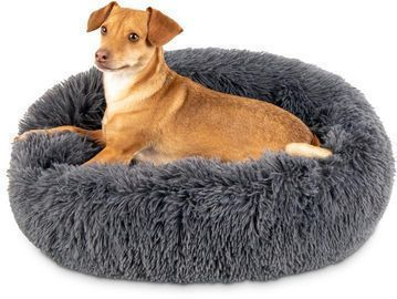 40% OFF | Self-Warming Shag Fur Calming Pet Bed