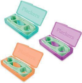 12 Count Plackers Micro Mint Dental Floss Picks with Travel Case