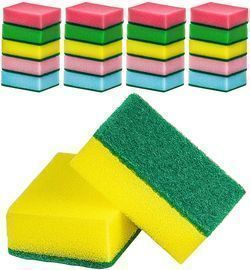 20 Pack of Heavy Duty Multicolored Cleaning Sponges