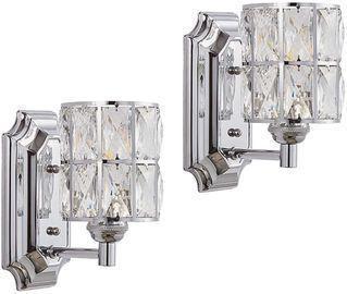 Set of 2 Doraimi 1 Light Prism Crystal Wall Sconces