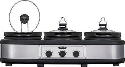 Bella 3 x 2.5-Quart Triple Slow Cooker