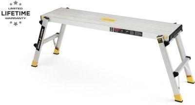 Gorilla Ladders 47.25 x 12 x 20 Aluminum Slim-Fold Work Platform